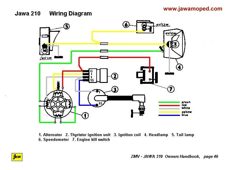 [SCHEMATICS_4UK]  210 Wiring | Security Key Light Switch Wiring Diagram |  | jawa moped